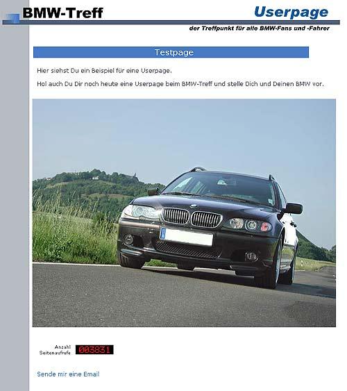 So könnte Deine Userpage beim BMW-Treff aussehen